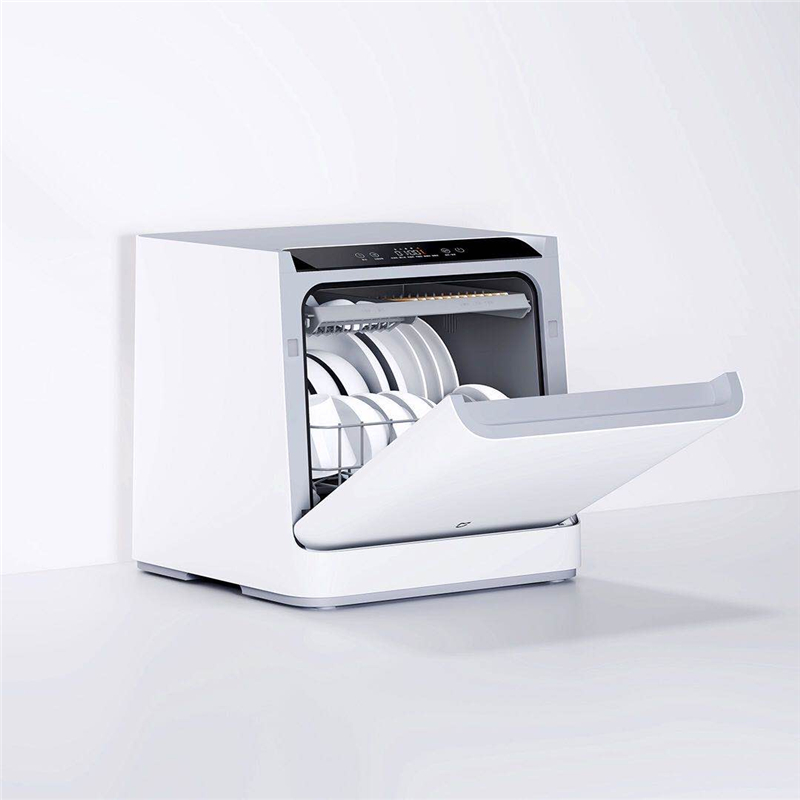 VDW0401M Internet Desktop Dishwasher For 4 Sets 6D Double Spray System 99.99% Sterilization For Home Office
