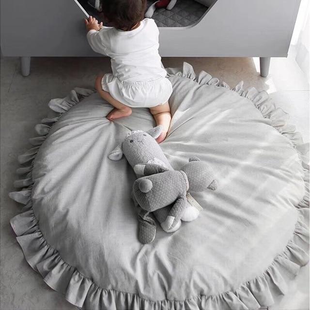 מחצלת כותנה לתינוקות במגוון צבעים 2