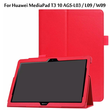 Ultra Thin Litchi Stand Protector Sleeve Case Skin Cover For Huawei MediaPad T3 10 AGS-L09 AGS-W09 AGS-L03 9.6 inch Tablet Funda case bluetooth keyboard holster for huawei mediapad t3 10 protective cover leather tablet ags l09 ags l03 w09 t310 pu protector