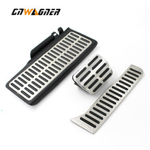 Car AT Foot Rest Fuel Accelerator Brake Clutch Pedals Pads for Volkswagen vw Passat B6 B7 cc for Skoda Superb Footrest Gas Pad