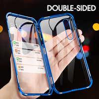 Coque de protection Double face aimant 360 Honor 8X Honor 9X Pro en verre trempé pour Huawei Honor 10 Lite Honor 8X 9X Max