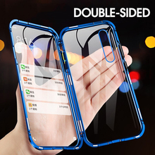 Double-sided Magnet 360 Protector Case Honor 8X 9X Pro Tempered Front Glass for Huawei 10 Lite Max