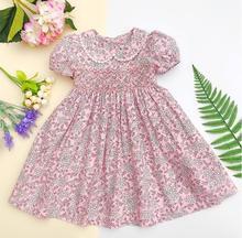 ילדות קטנות שמלות summer2020 ילדים ילדה קפלי שמלות מסיבת חתונה אלגנטי smocking פרחוני שמלות עבור בנות sukienki