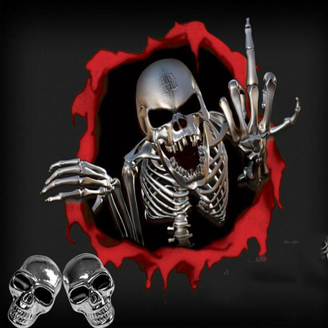 Metal Skull Stereo Headset For MP3 MP4 Smartphone