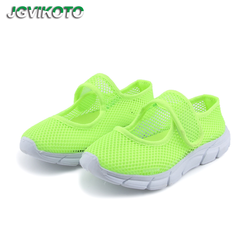 Children Sandals 2020 Fashion New Summer Shoes For Boys Girls Air Mesh Breathable Candy Color Kids Beach Shoes Cut-outs Soft Hot