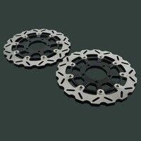 2PCS Motorcycle Floating Brake Discs Rotor For KAWASAKI NINJA ZX6RR ZX6R ER6F Z750 Z750R Z1000 Z1000SX ZX 10R VERSYS 650 750