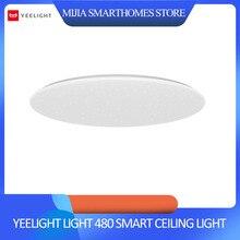 Xiaomi luz de teto yeelight luz 480 inteligente app/wifi/bluetooth led luz de teto 200 240 v controle remoto google casa