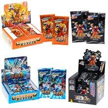 Dragon ball conjunto completo de edição limitada figuras anime herói cartão son goku super saiyan vegeta iv bronzeamento barragem cartões flash
