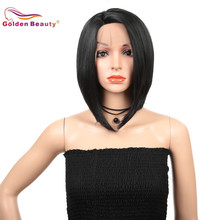 12inch Synthetic Lace Front Wig for Women Short Bob Wigs Sho