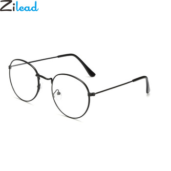Zilead البيضاوي المعادن نظارات القراءة واضح عدسة الرجال النساء نظارات طويل النظر النظارات البصرية النظارات الطبية 0 إلى +4.0