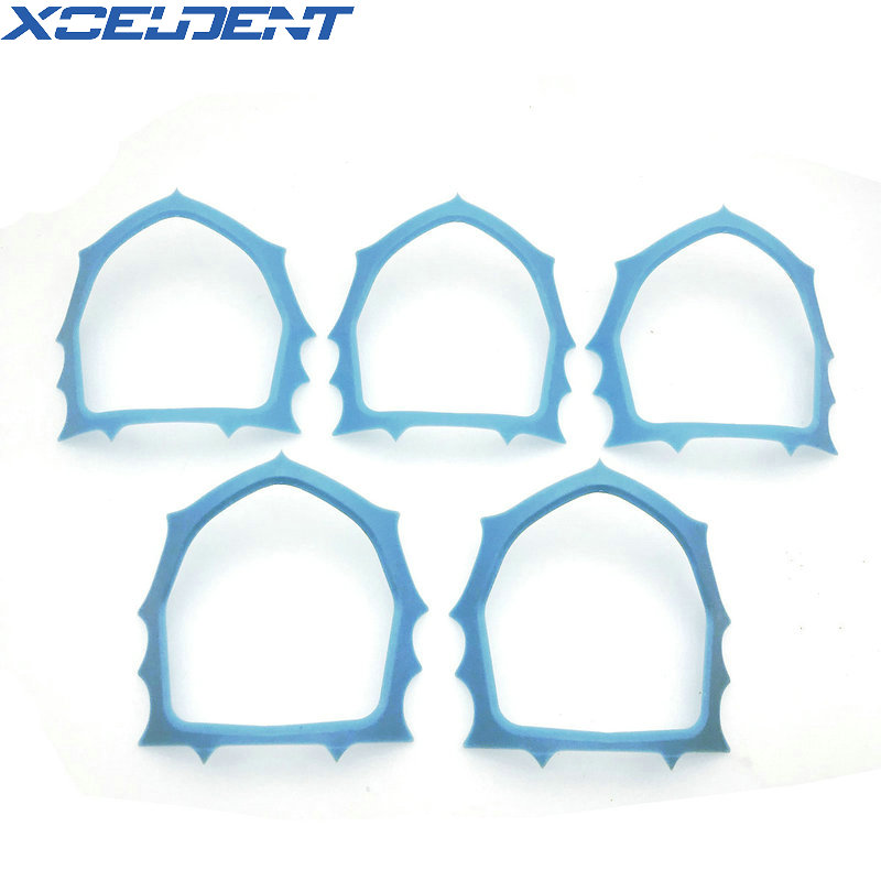 5pcs/pack Autoclavable Dental Plastic Rubber Dam Frame Holder Instrument Round Dentistry Tool