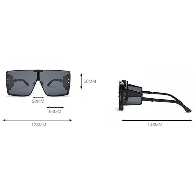 Peekaboo one piece shield sunglasses unisex heavy uv400  6
