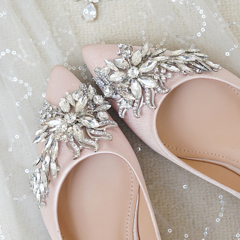 Bride Wedding Shoes Women S Crystal Shoes Flat Bottom 2019 Spring
