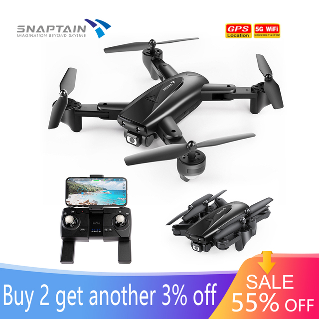 SNAPTAIN SPE500MQ Camera Drone dron 1080P HD Drones GPS 5G WiFi Drones Foldable FPV RC Quadcopter Hight Hold C kids RC drone 1