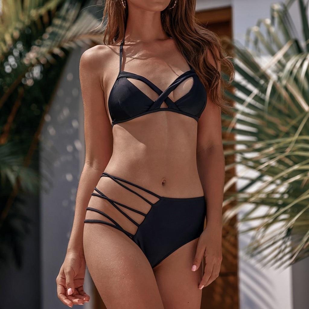 Modest Tankini Swimsuits for Women with Shorts Plus Size High Waist Print Push-Up Padded Bra Mesh Bikini Set