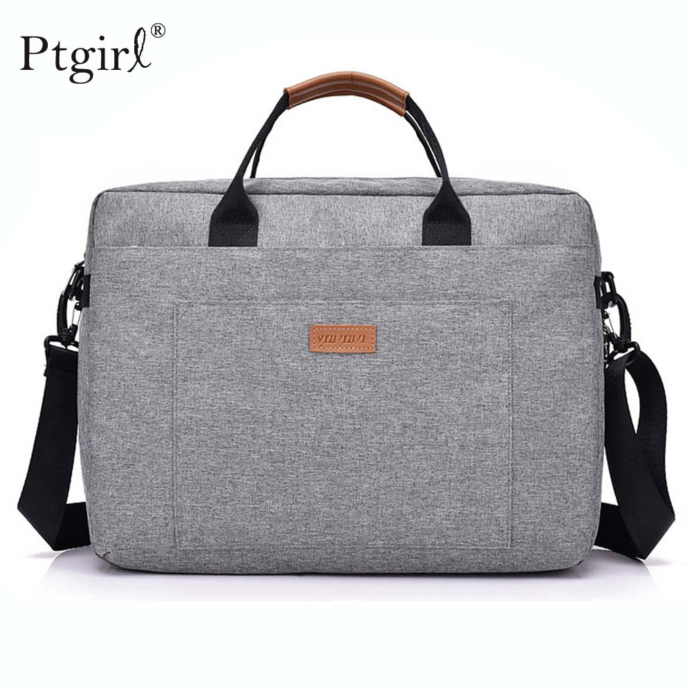 Fashion Women Men Canvas Briefcase 16 Inch Laptop Shoulder Bag For Female Male Handbag Business Computer Bag Travel Large Tote