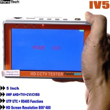 цена на IV5 5 inch 8MP CCTV Camera Tester AHD Tester monitor TVI CVI CVBS portable CCTV tester Monitor Support UTP PTZ tester cameras