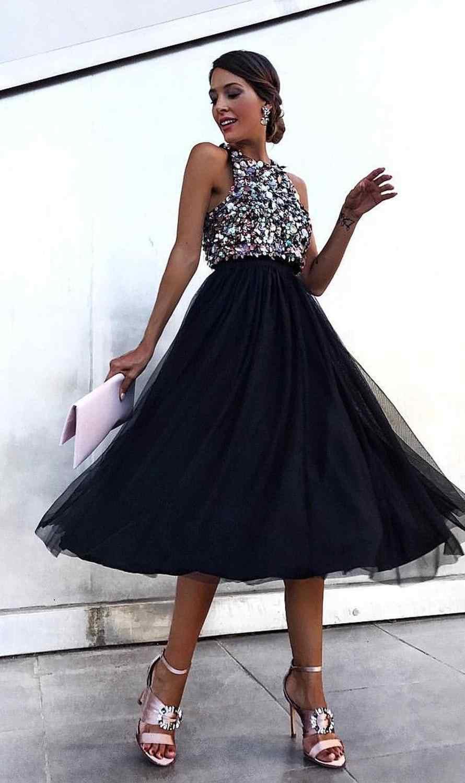 여성 섹시한 홀터넥 스팽글 드레스 패션 블랙 클럽 파티 드레스 우아한 반짝이 민소매 메쉬 스플 라이스 미디 드레스 vestidos