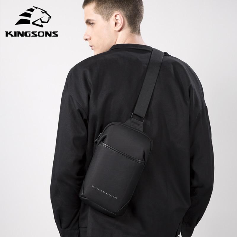 Kingsons New Multifunction Crossbody Bag Anti-theft Shoulder Messenger Bags Male Waterproof Short Trip Chest Bag Pack