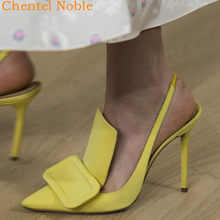 Thin Heel Elegant Sandals Women Solid Poited Toe Zapatillas Mujer Tide Cozy Mature Chaussures Femme Novelty Fashion shoes(China)