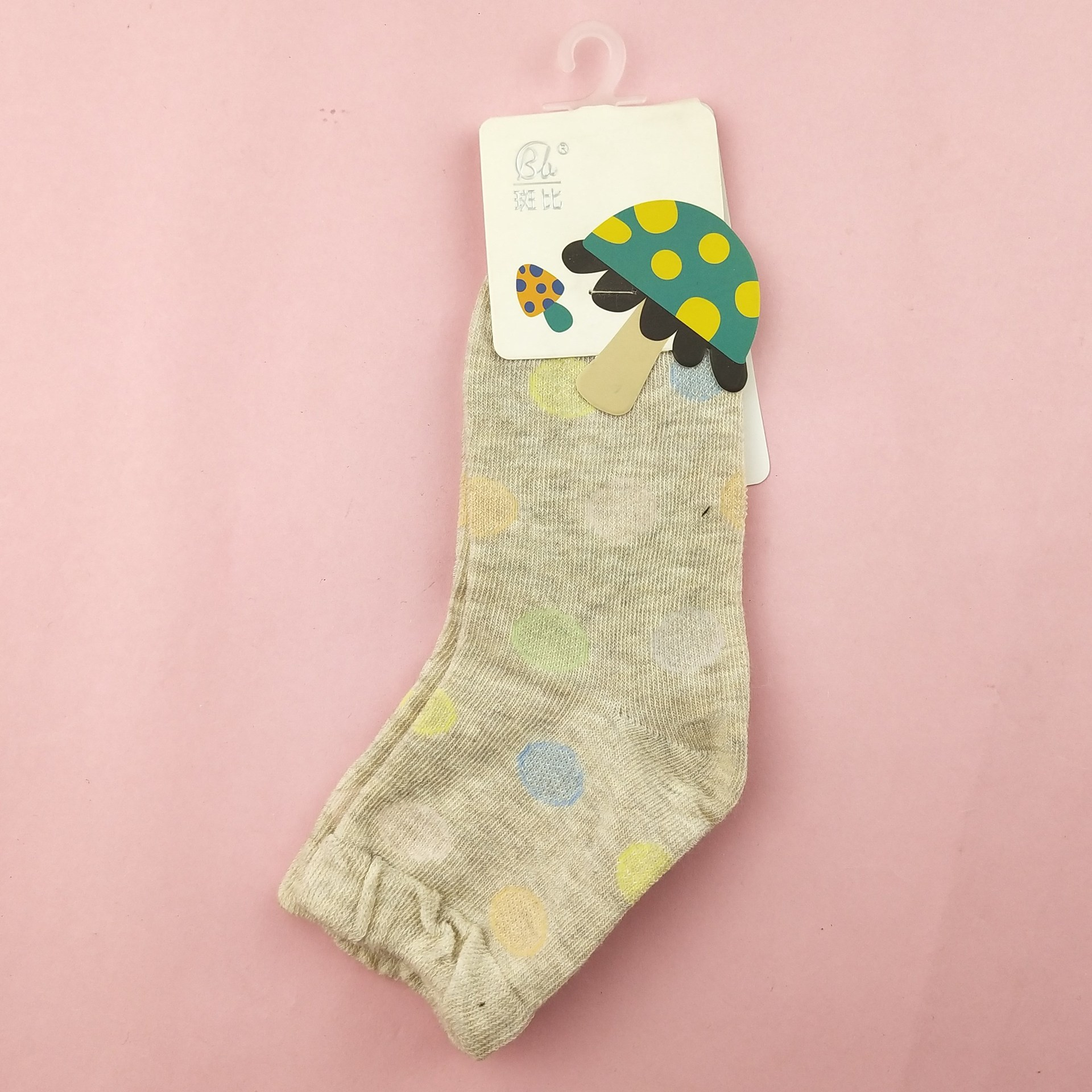 Stock-Bambi Thick Cotton Children's Socks Individual Package & Star 6 Color Concentrate Cotton Boneless Children's Socks Childre