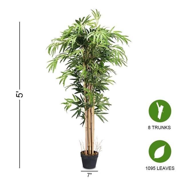 Online Shop 5 Feet Artificial Plants Bamboo Silk Tree Indoor