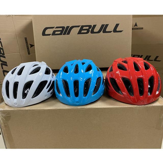 Cairbull capacete de ciclismo respirável, com viseira removível, óculos de bicicleta, lanterna traseira, segura, capacetes de montanha e estrada mtb 5
