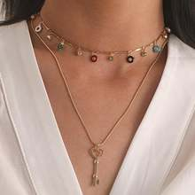 Ожерелье женское в готическом стиле простое ожерелье с подвеской