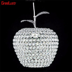 Image 2 - Lustres Apple Crystal Led Pendant Lamp Luminarias Aisle Balcony Pendant light Chrome Lighting Fixtures Abajur E27 Suspended Lamp