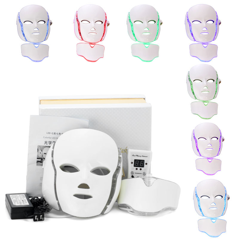 Surebeauty 7 Color Led Facial Mask Led Korean Photon Therapy Face Mask Machine Light Therapy Acne Mask Neck Led Mask Beauty