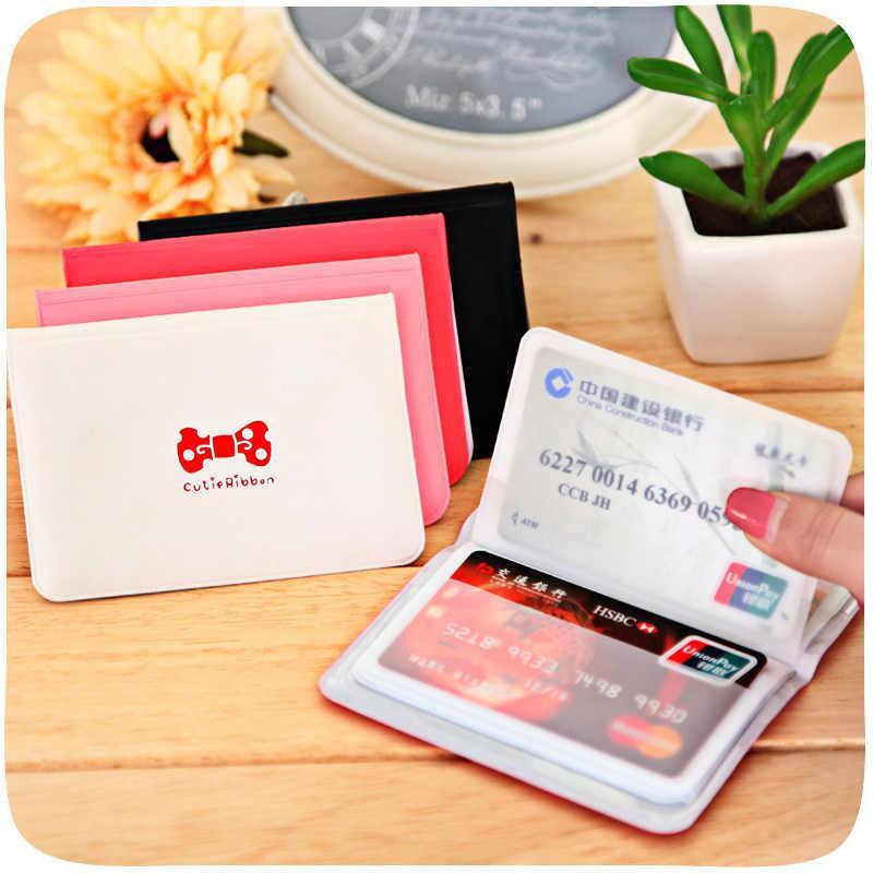 12 Bits Boog Visitekaartjes ID Kaarthouder Paspoort Kaarthouder Wallet Bag PU Lederen Credit Card Houder Voor Vrouwen mannen