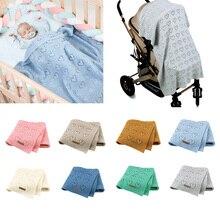 2020 Baby Blankets Newborn Cotton Swaddle Wrap Soft Toddler Sofa Crib Bedding Quilt Winter Autumn Baby Stroller Blanket 100*80cm