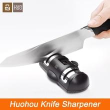 Xiaomi Huohou سكين مبراة 2 مراحل المهنية المطبخ شحذ الحجر طاحونة السكاكين الماس السيراميك مبراة أداة