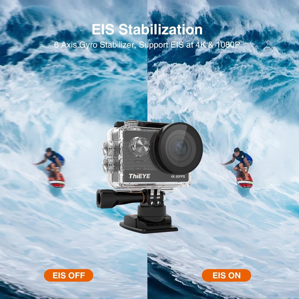 ThiEYE T5 Pro 4K action camera Echte Ultra HD 4K 60fps Touch Screen WiFi Action Kamera Mit Live Stream Fernbedienung 60M unterwasser kamera Sport kamera - 2