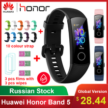 Original Huawei Honor Band 5 Smart Bracelet Waterproof Fitness Sleep Tracker Heart Rate Blood Oxygen Band Bluetooth Smart Watch