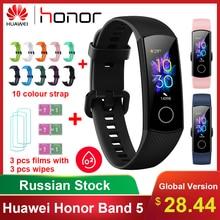 Original Huawei Honor Band 5 pulsera inteligente impermeable Fitness Sleep Tracker Frecuencia Cardíaca banda de oxígeno en sangre reloj inteligente Bluetooth