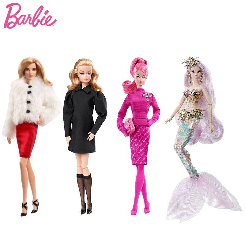 Original Barbie Puppen Sammlung Gold Etiketten Mädchen Geburtstag Geschenk Echtem ST Barbie Spielzeug für Kinder