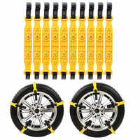 10PCS Car Tire Snow Chains Winter Snow Tire Chains Mud Tyre Anti-Skid Belts Emergency Driving Belts On Wheels