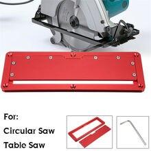 Placa de cubierta abatible de sierra Circular eléctrica, mesa de piso abatible de aleación de aluminio, placa de cubierta integrada especial ajustable de 45 90 grados