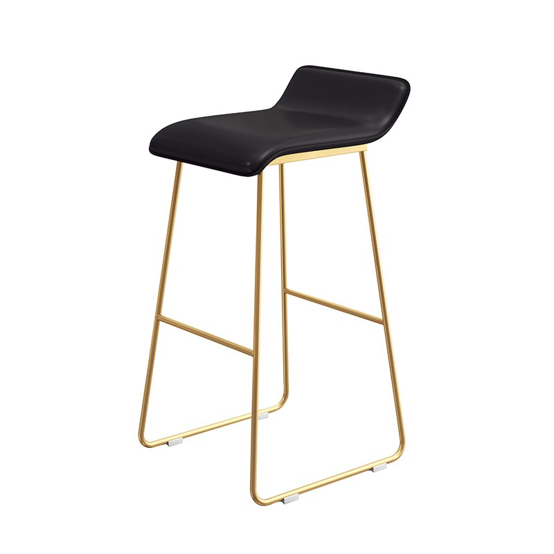 M8 Nordic Bar Stool Wrought Iron Creative Simple  Chair Cafe Gold   Front High
