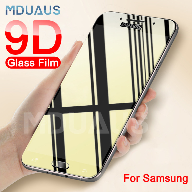 9D Protective Glass On The For Samsung Galaxy S7 A3 A5 A7 J3 J5 J7 2017 2016 Tempered Screen Protector Glass Protection Film