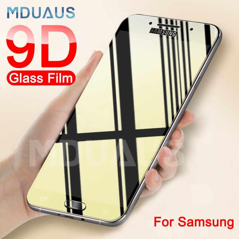 9D מגן זכוכית על לסמסונג גלקסי S7 A3 A5 A7 J3 J5 J7 2017 2016 מזג מסך מגן זכוכית הגנת סרט