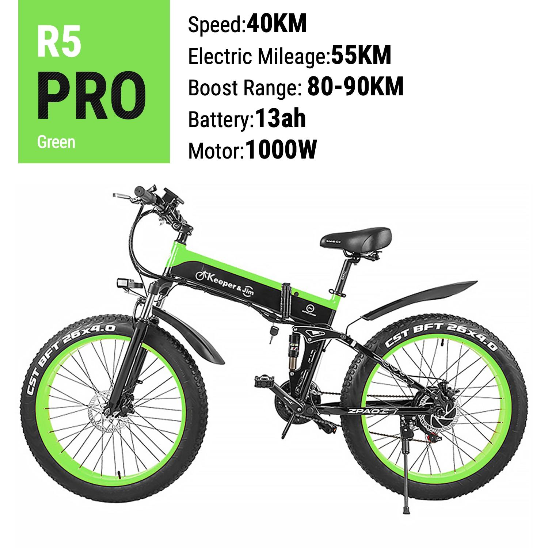 2020 Neue elektrische Ankunft bike 48V 12AH 1000W Falten Elektro Fahrrad Mit 4,0 Fett Reifen e bike Berg bike