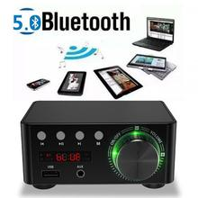 New Home Theater USB TF Card Player Bluetooth 5.0 HIFI Digital Power TPA3116 Audio Amplifier