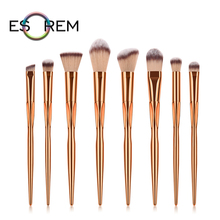 ESOREM Rose Gold Cosmetic Brushes Set 8pcs Slim Makeup Brush Precision Shader Tapered Highlight Pinceles Maquillaje T-08-079