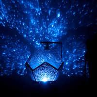 Nowa lampa LED gwiaździstej nocy lampa konstelacji lampa projektora sypialnia konstelacji projektor gwiazda salon urodziny