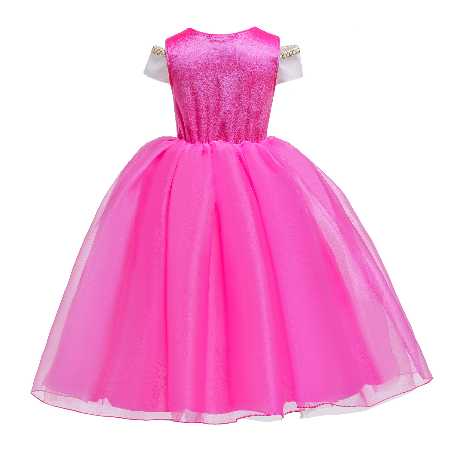 Image 5 - Cosplay Princess Belle Girl Dress For Halloween Party Drama Prom Christmas Costume Kids Clothes Beauty and The BeastGirls Costumes   -