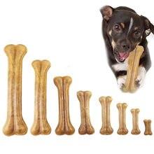 Brinquedos do cão durável mastigar brinquedos de couro natural pressionando osso mastiga lanche comida trata cão mastigar ossos para filhote de cachorro pet suprimentos