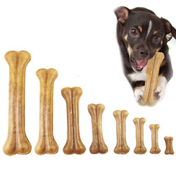 Dog Toys Durable Dog Chew toys Natural Cowhide Pressing Bone Chews Snack Food Treats Dog Chew Bones For Puppy Pet Supplies