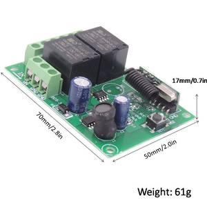 Image 5 - Rf Afstandsbediening 433Mhz Universele Draadloze Diy Schakelaar Dc 5V ~ 30V 2CH Rf Relais Ontvanger board En Lange Afstand Zender